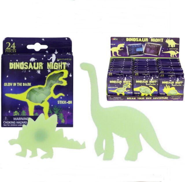 24pc Glow in the Dark Dinosaur &Stars Stickers Ceiling Childs Kids Birthday Bag