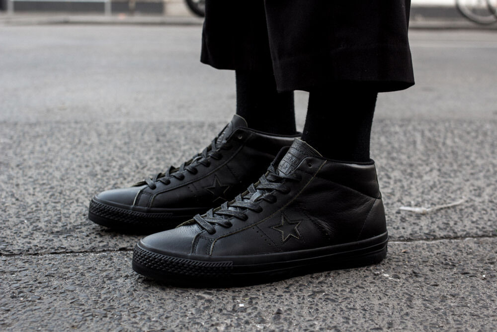 3740a1321534 ... coupon code for converse one star pro mid rub off leather black black  blac 155518c usmens ...