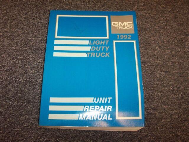 1992 Gmc Sierra C1500 C2500 C3500 K1500 K2500 K3500