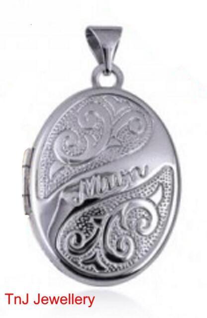 """NEW Genuine Solid  925 Sterling Silver Scroll Embossed """"Mum"""" Locket Beautiful"""
