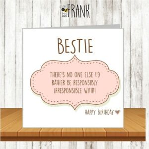 Image Is Loading Funny Cute Alternative Sarcastic Birthday Card Best Friend