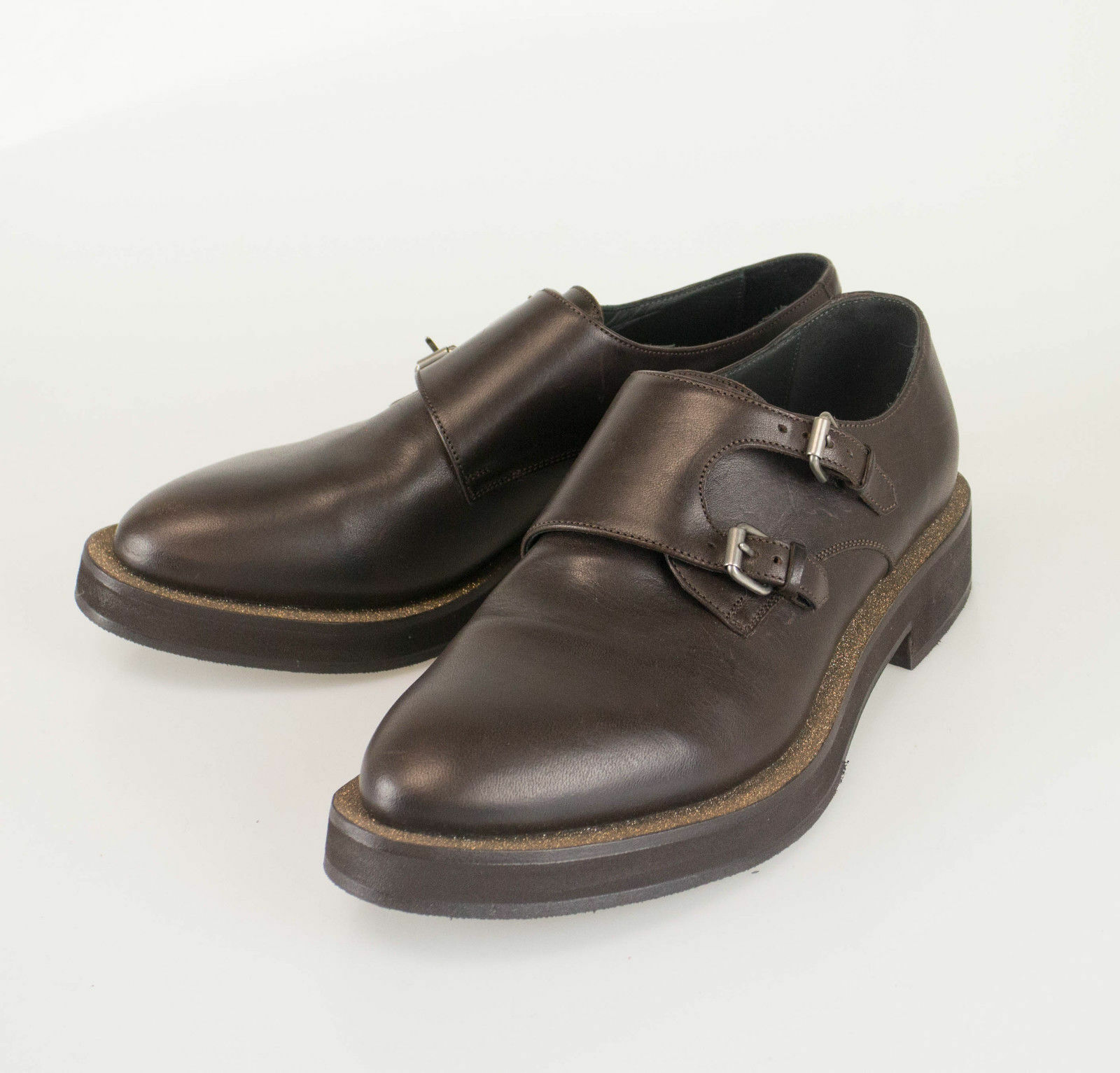 New BRUNELLO CUCINELLI Brown Leather W/ Glitter Loafers Shoes 39.5/9.5  1625