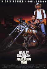 HARLEY DAVIDSON AND THE MARLBORO MAN Movie POSTER 27x40 Kelly Hu Mickey Rourke