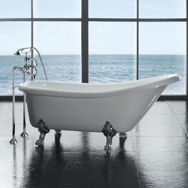 Ove Decors Clawfoot 66 X 28 Acrylic Slipper Tub