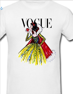 VOGUE GIRLS SNOW WHITE T-SHIRT//CAN ADD NAME AND AGE//100/% COTTON//FREE POST