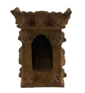 Templo-Tibetano-Altar-Pagoda-Con-Estatua-Buda-Tibet-25x18cm-3380
