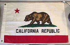 "Vintage COTTON CALIFORNIA State FLAG Bear Linen 21"" X 33"""