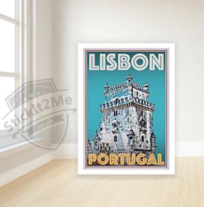 Art Deco Travel Posters Lovely Vintage Retro Holiday Tourism *Unique* Lisbon