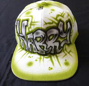Urbanist Personally Custom Air Brushed Block Graffiti Art Snapback Baseball Cap