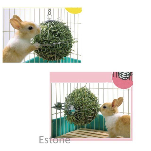 Pop Sphere Treat Ball Guinea Pig Hamster Rat Rabbit Feed Dispenser Ball Toy New