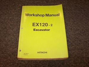 hitachi ex120 2 hydraulic excavator workshop shop service repair rh ebay com