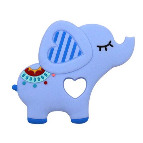 AM/_ Newborn Baby Silicone Teether Cartoon Elephant Teething Chew Toy Gift Novelt