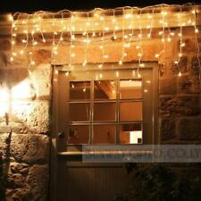 96 960 led fairy string hanging icicle snowing curtain lights outdoor xmas party - Outdoor Icicle Christmas Lights