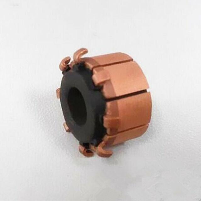 1PC TP156A Electric Motor Commutator 6 x 15 x 10mm 8P Silver Copper Bars