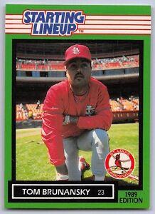 1989  TOM BRUNANSKY - Kenner Starting Lineup Card - ST. LOUIS CARDINALS