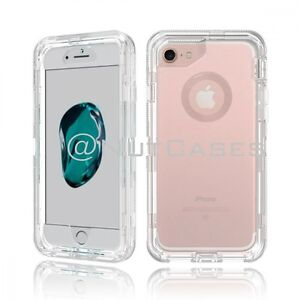 For Iphone X 8 7 6 Plus Xr Xs Max Clear Defender Cover Case Clip