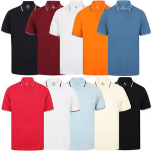 Sth-Shore-Mens-Plain-Polo-Shirt-100-Pique-Cotton-T-Shirt-Top-Collar-Size-M-XXL
