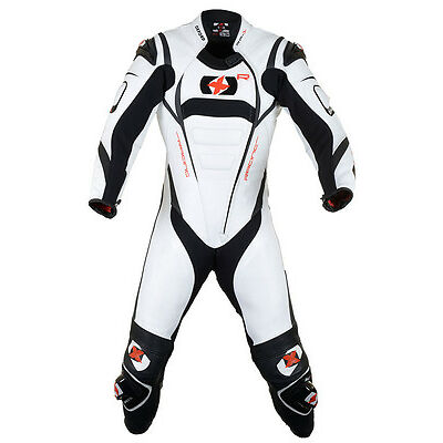 Oxford RP-1 1pc Leather Race Suit (Wh/Blk) WAS £499.99 ***Now Only £249.99***