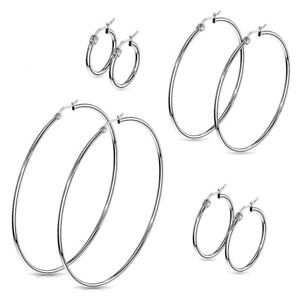 Hoop-Earrings-Stainless-Surgical-Steel-Hypoallergenic-Select-Size