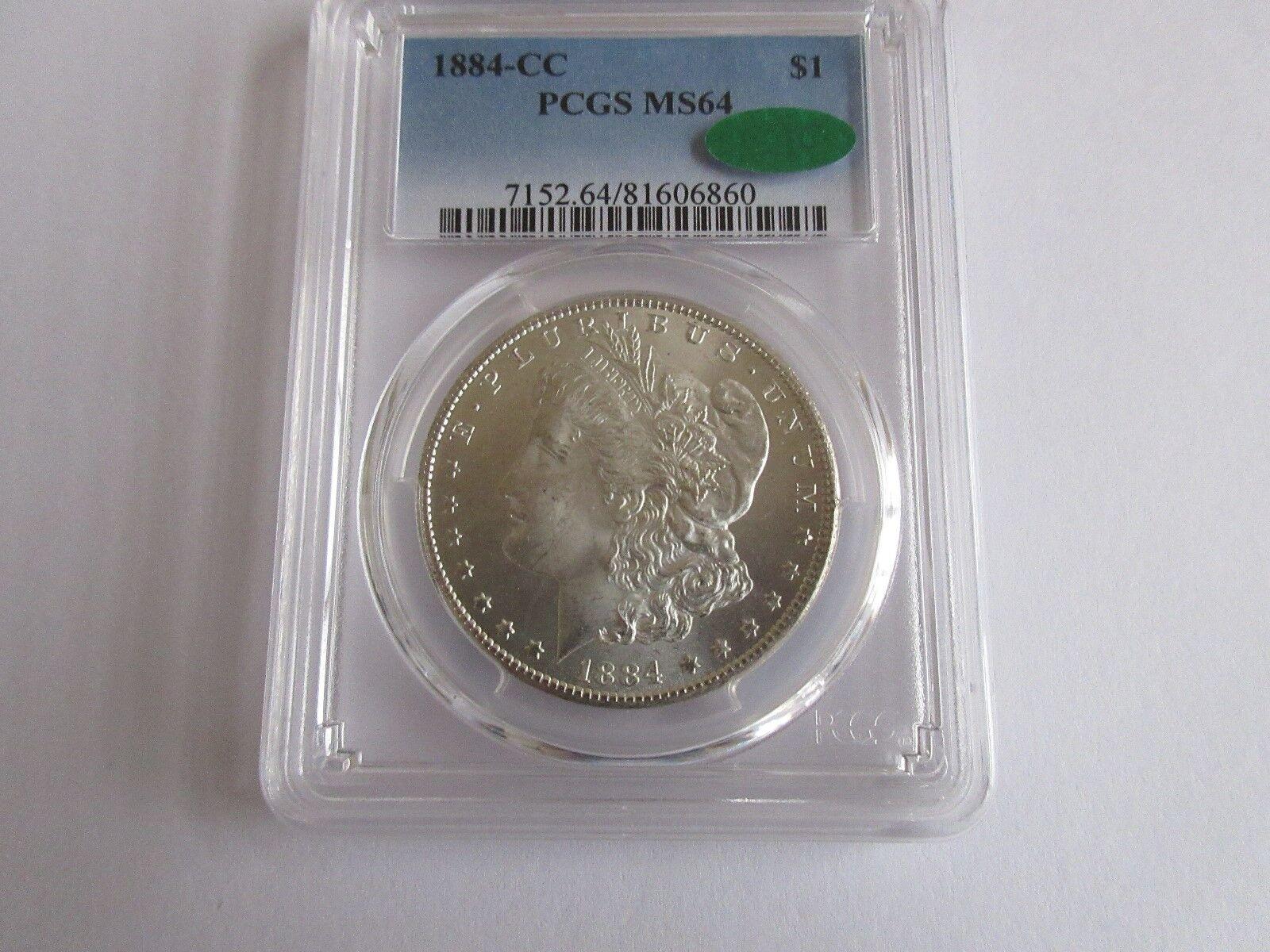 1884-CC Morgan $1 PCGS MS 64 CAC
