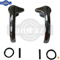 51-54 Chevy Pickup Truck Vent Wing Window Chrome Release Lever Lock Handle Set