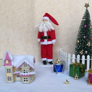 1//12 Dollhouse Miniature Wooden Christmas Gift Box Red Xmas Scene Decoration