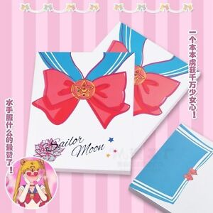 1pc-Sailor-Moon-Notebook-Tsukino-Usagi-Bowtie-Pattern-Paper-Student-Diary-Book