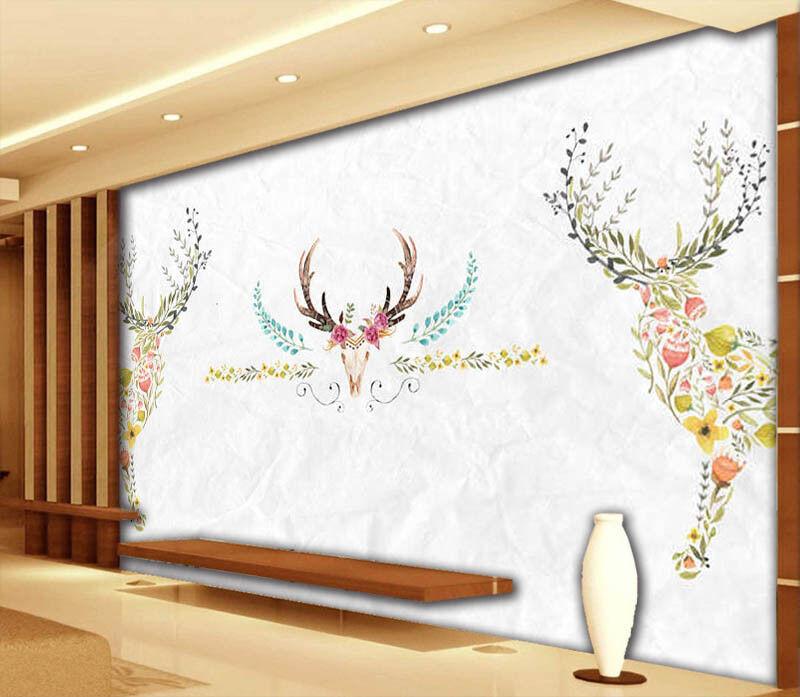 Farbeful Deer 3D Full Wall Mural Photo Wallpaper Printing Home Kids Decoration