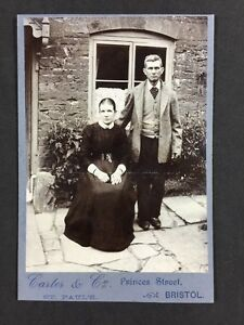 Victorian-Cabinet-Card-Photo-Couple-Carter-amp-Co-Bristol-Outside-House-Sheers