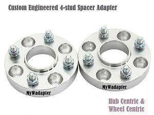 Wheel Spacer Adapters 20mm Fiat Alfa 4x98 To 4x100 Conversion Hub Centric 2 Pcs Ebay