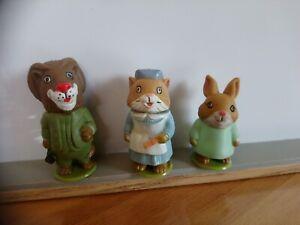 Lot 3 figurines Puzzletown Richard Scarry playskool 1976 vintage