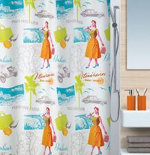 Fifties Multicolor Textil Duschvorhang 180 x 200 cm. 1950's Schweizer Markenware