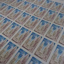FEUILLE SHEET TIMBRE SAINT PAUL DE LEON N°1808 x50 1974 NEUF ** LUXE MNH
