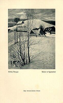 Winter In Agnetendorf Druck 1922 Ludwig Danziger * Luban Jagniatkow Jelenia Gora