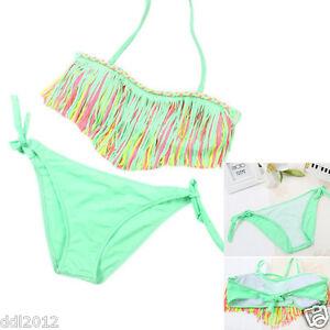 2PCS-Set-Baby-Girls-Summer-Swimwear-Tassel-Kids-Split-Nylon-Swimsuit-Bikini-Set