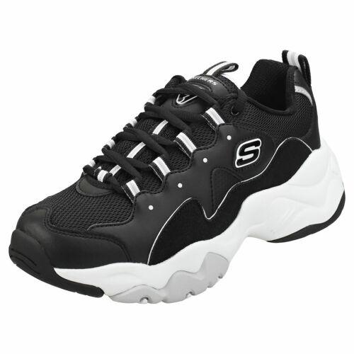 7 UK Skechers Dlites 3 Zenway Womens Black White Platform Trainers