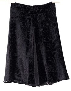 VGUC-Brilliant-ETRO-Milano-Women-039-s-Sz-IT-42-US-8-Black-Silk-Blend-Burnout-Skirt