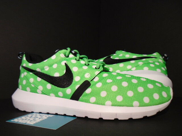 Nike ROSHE NM QS ROSHEcourir POLKA DOTS GREEN STRIKE blanc noir 810857-300 NEW 9.5
