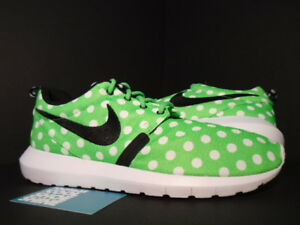 new arrival bc87c 20af4 Image is loading Nike-ROSHE-NM-QS-ROSHERUN-POLKA-DOTS-GREEN-