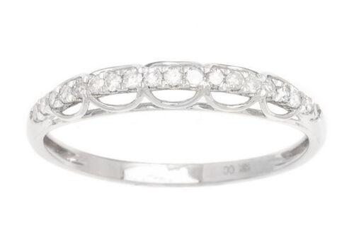 G-H, I1-I2 Or Blanc 1//4ct Diamant Mariage Bande Bague