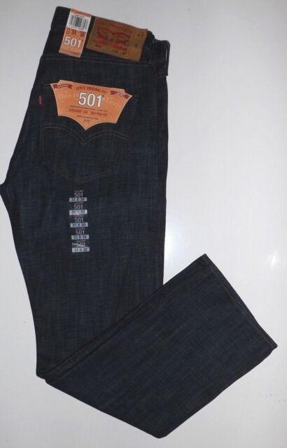 Levis 501  Authentic Original Fit Button Fly Blue Jeans Straight Leg MSRP$69.50
