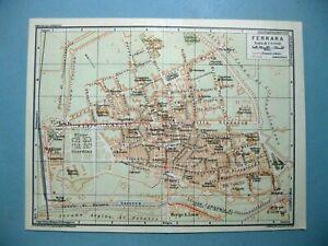 Cartina Topografica Emilia Romagna.Stampa Antica Mappa Carta Topografica Stradario Emilia Romagna Ferrara 1927 Ebay