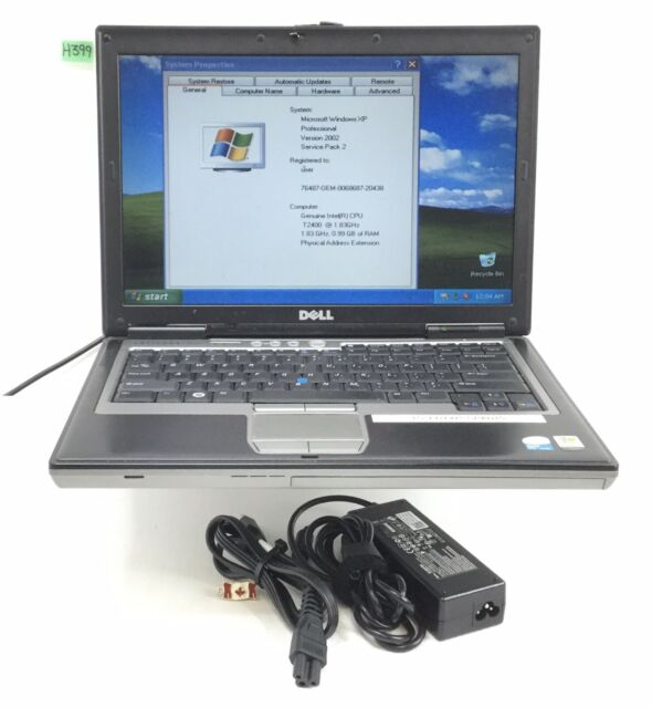 "DELL LATITUDE D620 14"" LAPTOP INTEL CORE 2 DUO T2400 1.83GHZ 2GB 160GB H399"