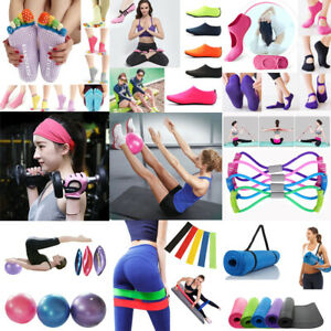 Tappetino-Per-Yoga-Esercizi-Fitness-Palestra-Palla-Calzini-Fascia-Pilates-Sport-Strumento-ausiliario