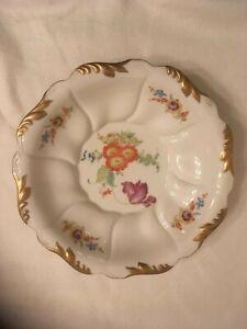 Grosse-Porzellan-Schale-aus-Kahla-Prunkschale-Gold-Blumen-alt-antik-1930-29-cm