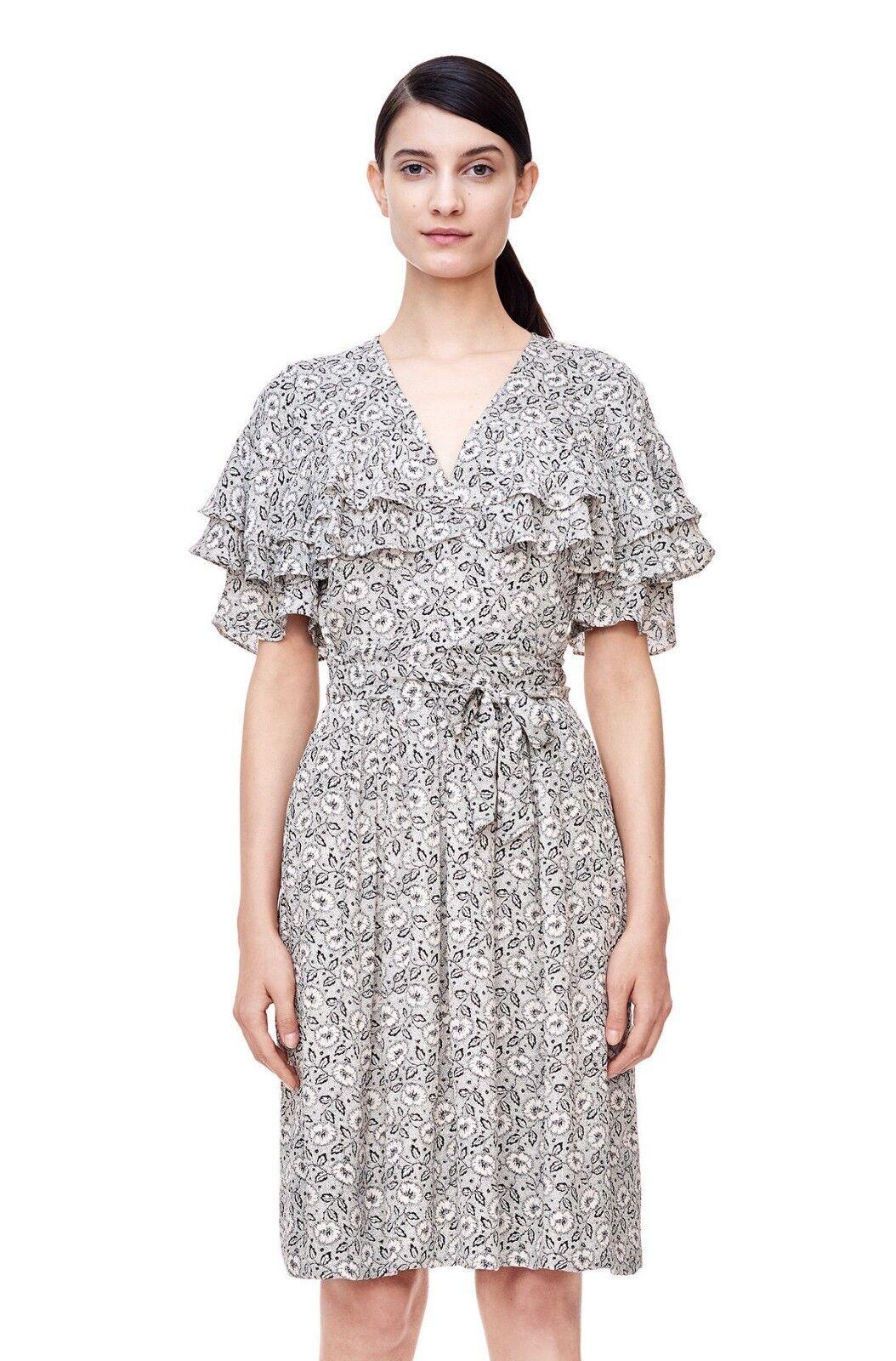 NWT Rebecca Taylor Sweet Briar Ruffle Dress Cream Combo Size 0, 2, 4, 6  495