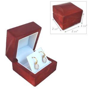 Image Is Loading Super Quality Elegant Earring Box Birch Wood