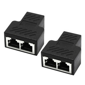 1 to 2 LAN Ethernet Network RJ45 Splitter Extender Adapter Connector Plugs A5J9