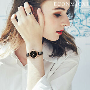 1x-Women-039-s-Analog-Wristwatch-Imitated-Leather-Quartz-Floral-Pattern-Dial-Watches