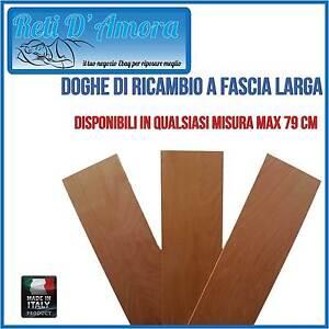 DOGHE DOGA PER RICAMBIO A FASCIA LARGA IN LEGNO DI FAGGIO SINGOLA 790 x170mm